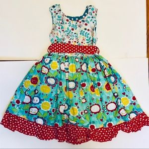 Jelly the Pug Floral Girls Dress